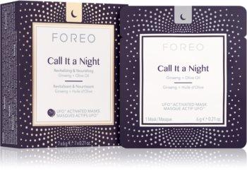 FOREO UFO™ Call It a Night нощна ревитализираща маска за възстановяване на кожата на лицето с подхранващ ефект