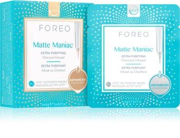 FOREO UFO™ Matte Maniac maschera detergente al carbone attivo per un finish opaco