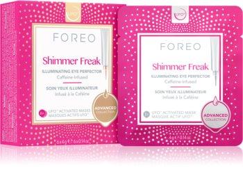 FOREO UFO™ Shimmer Freak élénkítő maszk a duzzanatokra és a sötét karikákra