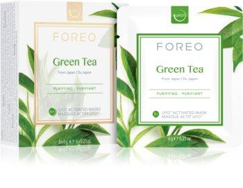 FOREO Farm to Face Green Tea frissítő és nyugtató maszk