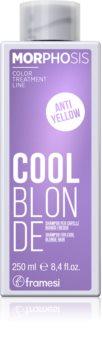 Framesi Morphosis Cool Blonde sampon a sárga tónusok neutralizálására a szőke hideg árnyalataiért