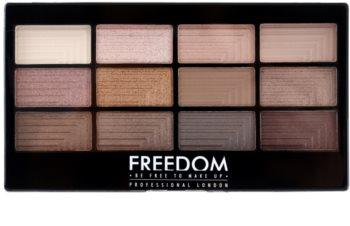 Freedom Pro 12 Audacious 3 Palett för ögonskugga  med applikator