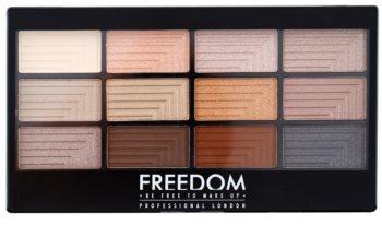 Freedom Pro 12 Le Fabuleux szemhéjfesték paletta applikátorral