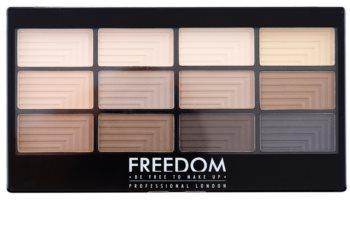Freedom Pro 12 Audacious Mattes palette de fards à paupières avec applicateur