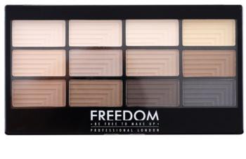 Freedom Pro 12 Audacious Mattes палитра от сенки за очи с апликатор