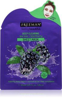 Freeman Feeling Beautiful plátýnková maska s čisticím efektem