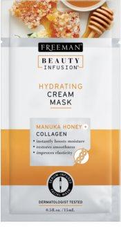 Freeman Beauty Infusion Manuka Honey + Collagen hidratantna kremasta maska za normalnu i suhu kožu