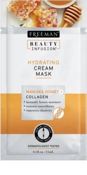 Freeman Beauty Infusion Manuka Honey + Collagen nawilżająca, kremowa maseczka do skóry normalnej i suchej