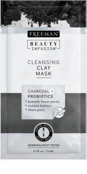 Freeman Beauty Infusion Charcoal + Probiotics maschera detergente all'argilla viso