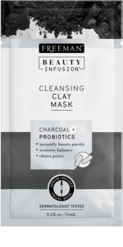 Freeman Beauty Infusion Charcoal + Probiotics reinigende Gesichtsmaske mit Tonmineralien