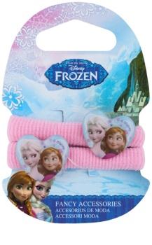 Frozen Princess elásticos coloridos para o cabelo em forma de coração