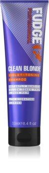 Fudge Care Clean Blonde fialový tónovací šampón pre blond vlasy