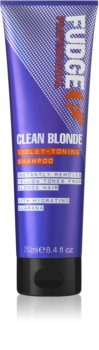 Fudge Care Clean Blonde shampoo tonificante viola per capelli biondi