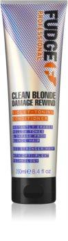 Fudge Clean Blonde Damage Rewind soin démêlant correcteur couleur pour cheveux blonds
