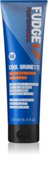 Fudge Care Cool Brunette shampoing pour cheveux bruns à foncés