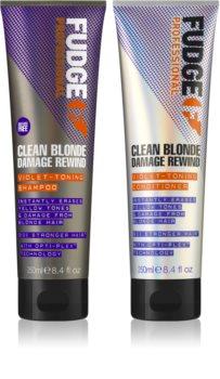 Fudge Clean Blonde Damage Rewind kozmetická sada (pre blond vlasy)