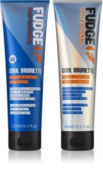 Fudge Care Cool Brunette Kosmetik-Set  (für braune Farbnuancen des Haares)