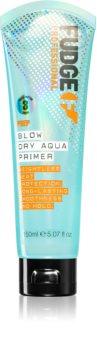 Fudge Prep Blow Dry Aqua Primer sérum thermo-protecteur pour lisser les cheveux