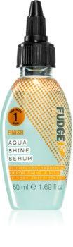 Fudge Finish Aqua Shine Serum ser netezire pentru un par stralucitor si catifelat