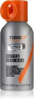 Fudge Style Matte Hed Gas Ultimate Fixative Spray for a Matte Look