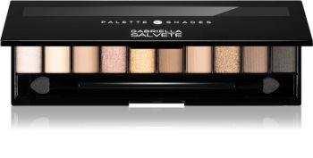 Gabriella Salvete Eyeshadow 10 Shades Palette Lidschatten-Palette inkl. Spiegel und Pinsel