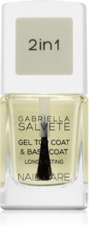 Gabriella Salvete Nail Care Top & Base Coat Basis - und Decklack für die Fingernägel mit Gel-Textur