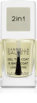 Gabriella Salvete Nail Care Top & Base Coat bázis- és fedőlakk géles textúrájú