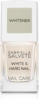 Gabriella Salvete Nail Care White & Hard Nail Aluskynsilakka  Kiinteyttävän Vaikutuksen Kanssa