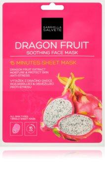 Gabriella Salvete Face Mask Dragon Fruit mască textilă calmantă
