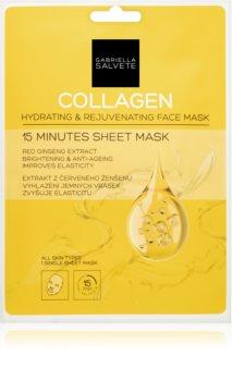 Gabriella Salvete Face Mask Collagen plátýnková maska pro rozjasnění a vyhlazení pleti