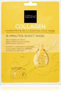 Gabriella Salvete Face Mask Collagen Sheet Mask with Brightening and Smoothing Effect