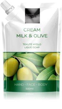Gabriella Salvete Liquid Soap Cream Milk & Olive Flüssigseife für Gesicht, Hände und Körper