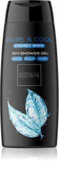 Gabriella Salvete Energy 4Men Pure & Cool Shower Gel for Face, Body, and Hair for Men