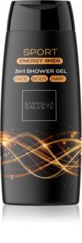 Gabriella Salvete Energy 4Men Sport gel de douche visage, corps et cheveux pour homme