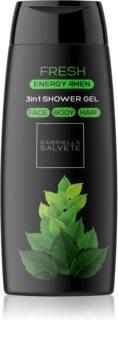 Gabriella Salvete Energy 4Men Fresh Shower Gel for Face, Body, and Hair for Men