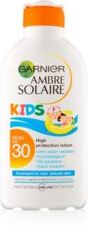 Garnier Ambre Solaire Kids защитно мляко за деца SPF 30
