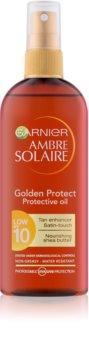 Garnier Ambre Solaire Golden Protect olejek do opalania SPF 10