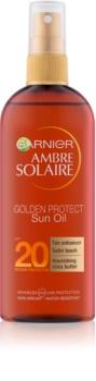 Garnier Ambre Solaire Golden Protect olej na opalování SPF 20
