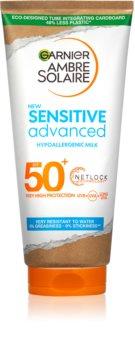 Garnier Ambre Solaire Sensitive Advanced мляко за загар  SPF 50+