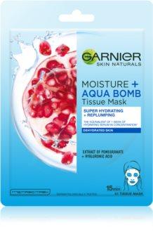 Garnier Skin Naturals Moisture+Aqua Bomb maschera riempitiva in tessuto ultra idratante per il viso