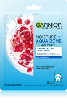 Garnier Skin Naturals Moisture+Aqua Bomb super vlažilna tekstilna maska za zapolnitev gub za obraz