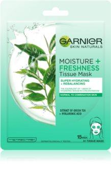Garnier Skin Naturals Moisture+Freshness szuper hidratáló és tisztító szövet arcmaszk normál és kombinált bőrre