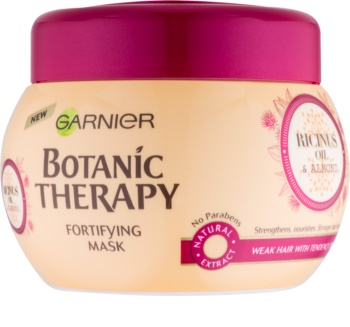 Garnier Botanic Therapy Ricinus Oil masque fortifiant pour les cheveux affaiblis ayant tendance à tomber