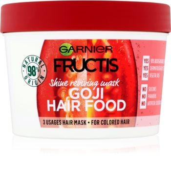 Garnier Fructis Goji Hair Food een masker dat geverfd haar zijn glans teruggeeft
