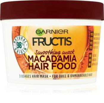Garnier Fructis Macadamia Hair Food glättende Maske für ungezähmtes Haar
