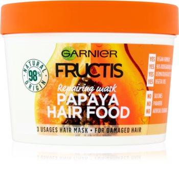 Garnier Fructis Papaya Hair Food maschera rigenerante per capelli rovinati