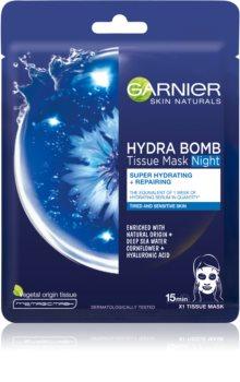 Garnier Skin Naturals Hydra Bomb maschera viso nutriente in tessuto per la notte