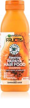 Garnier Fructis Papaya Hair Food регенериращ шампоан  за увредена коса
