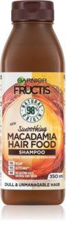 Garnier Fructis Macadamia Hair Food shampoing régénérant pour cheveux abîmés
