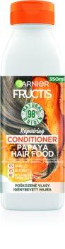 Garnier Fructis Papaya Hair Food balsam regenerator pentru par deteriorat